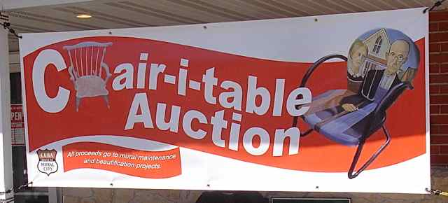 Viva Cuba's Chair-i-table Auction banner