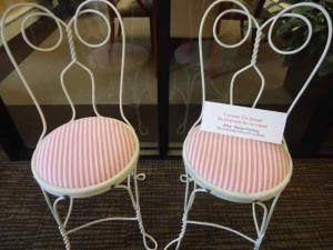 "The ""We all scream for ice cream"" chairs are a classic design that evoke memories of times past."