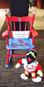 With the Cardinals getting ready to rock the playoffs, your little tyke might enjoy this chair, which is accompanied by a talking Fredbird.