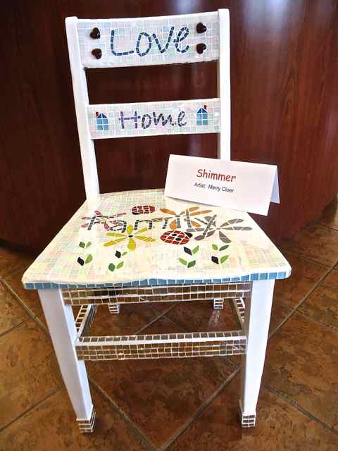 Shimmer Mosaic Chair by Merry Cloer of Spirals Gallery on Route 66