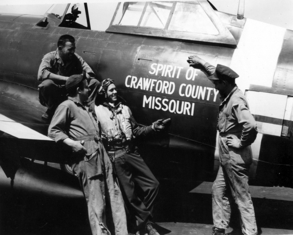 Lt. Joe Curtis of the 63rd Flying Squadron piloted the Spirit of Crawford County Missouri.