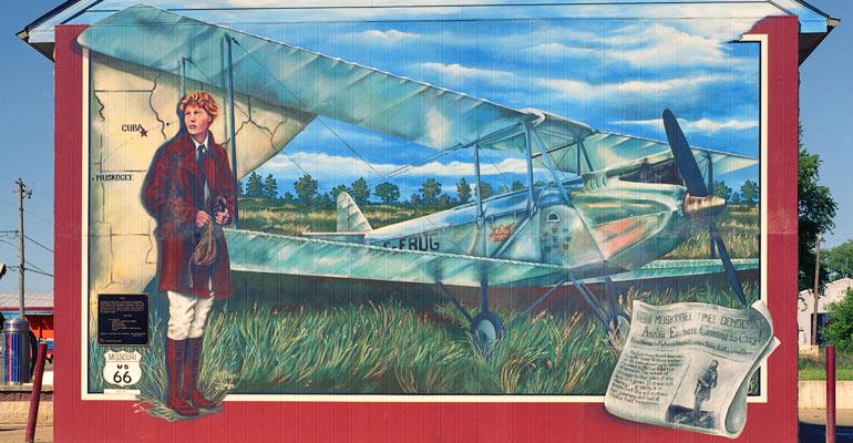 Amelia Earhart Mural Cuba MO
