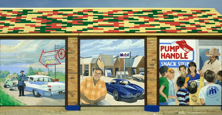 The Murals Of Cuba Mo Cuba Mo Route 66 Mural