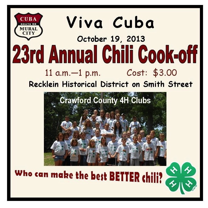 Area 4-H Clubs view who makes the best Better Chili.