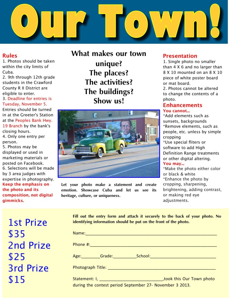 Our Town Photo Contest