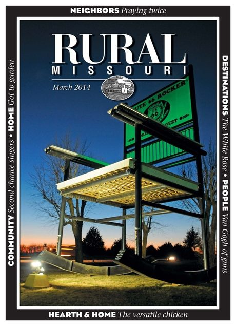 Jim McCarty's photo on the cover of the March Rural Missouri Magazine is a striking intro to the race and the town, which are profiled.