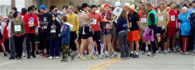 The Route 66 Race to the Rocker brings out runners, walkers, costumed runners, and folks of all ages.