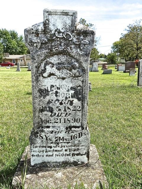 Dr. Solomon Horines tombstone in Cuba, Missouri
