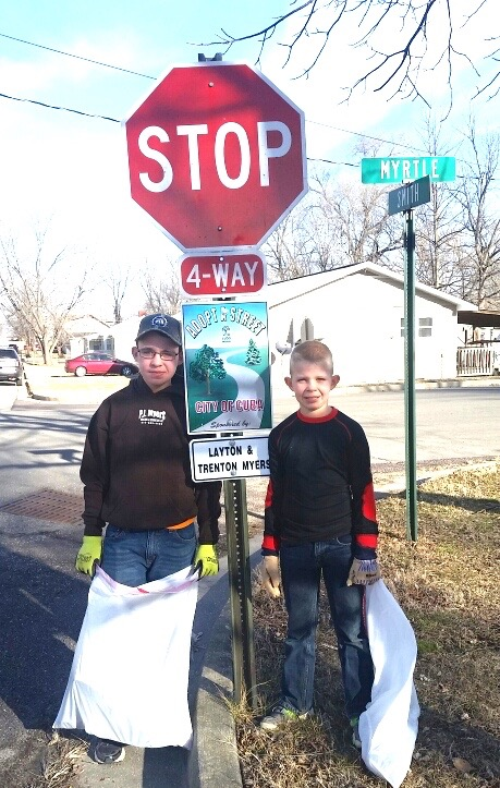 Layton & Trenton Myers have adopted a street as part of Viva Cuba's Adopt-A-Street program.