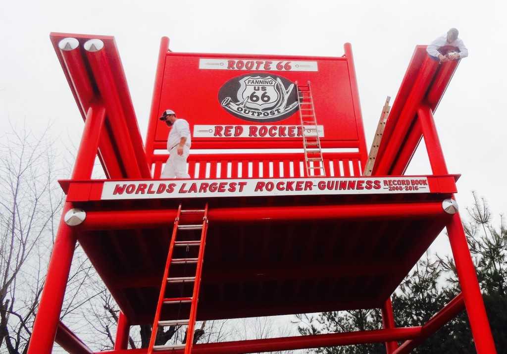 December 11, 2015 finishing detail on the Route 66 Rocker's paint job