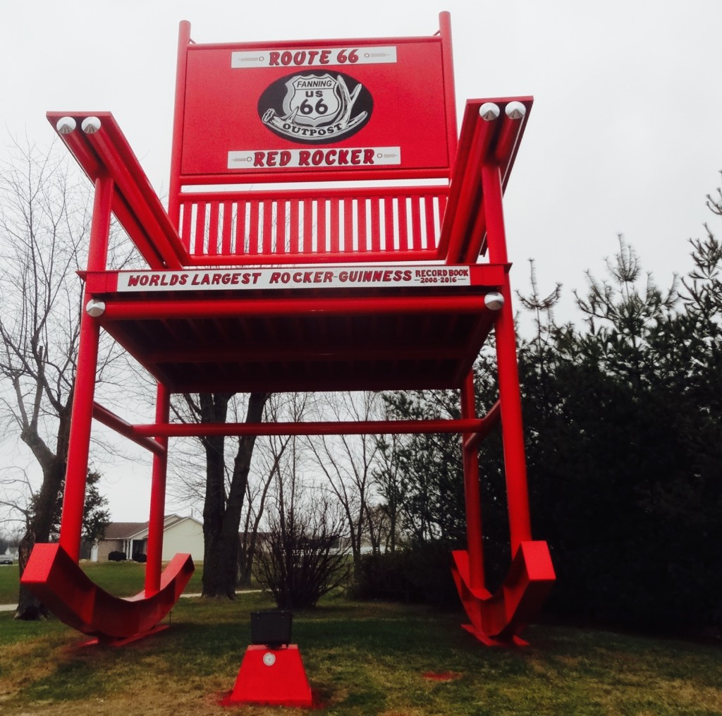 The Route 66 Red Rocker now has its own identity on Route 66.