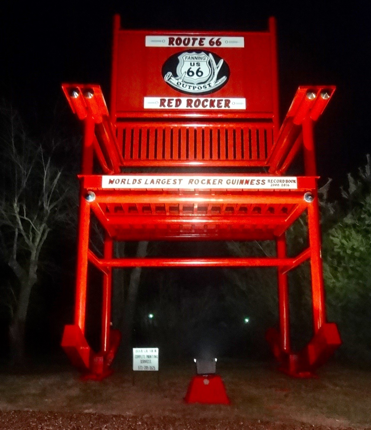 Sensational From Worlds Largest To The Route 66 Red Rocker Cuba Mo Alphanode Cool Chair Designs And Ideas Alphanodeonline